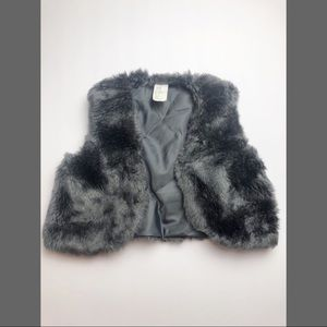 H&M Jackets & Coats - H&M Grey Faux Fur Vest